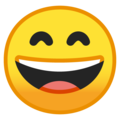 Grinning Face With Smiling Eyes on Google Android 8.1