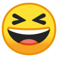 Grinning Squinting Face on Google Android 8.1