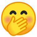 Face With Hand Over Mouth on Google Android 8.1