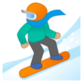Snowboarder: Medium-Light Skin Tone on Google Android 8.1