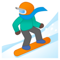 Snowboarder: Dark Skin Tone on Google Android 8.1