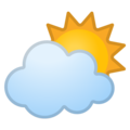 Sun Behind Cloud on Google Android 8.1