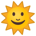 Sun With Face on Google Android 8.1