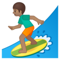Person Surfing: Medium Skin Tone on Google Android 8.1