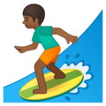 Person Surfing: Medium-Dark Skin Tone on Google Android 8.1