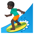 Person Surfing: Dark Skin Tone on Google Android 8.1