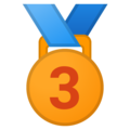 3rd Place Medal on Google Android 8.1