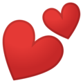 Two Hearts on Google Android 8.1