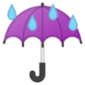 Umbrella With Rain Drops on Google Android 8.1