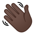 Waving Hand: Dark Skin Tone on Google Android 8.1