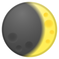 Waxing Crescent Moon on Google Android 8.1