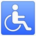 Wheelchair Symbol on Google Android 8.1
