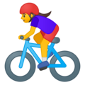Woman Biking on Google Android 8.1