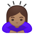 Woman Bowing: Medium Skin Tone on Google Android 8.1