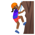 Woman Climbing: Medium-Dark Skin Tone on Google Android 8.1