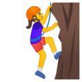 Woman Climbing on Google Android 8.1