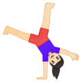 Woman Cartwheeling: Light Skin Tone on Google Android 8.1