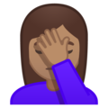 Woman Facepalming: Medium Skin Tone on Google Android 8.1