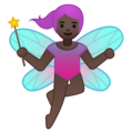 Woman Fairy: Dark Skin Tone on Google Android 8.1