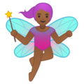 Woman Fairy: Medium-Dark Skin Tone on Google Android 8.1