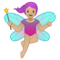 Woman Fairy: Medium-Light Skin Tone on Google Android 8.1