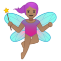 Woman Fairy: Medium Skin Tone on Google Android 8.1
