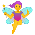 Woman Fairy on Google Android 8.1