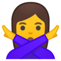 Woman Gesturing No on Google Android 8.1