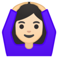 Woman Gesturing OK: Light Skin Tone on Google Android 8.1