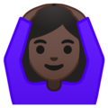 Woman Gesturing OK: Dark Skin Tone on Google Android 8.1