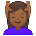 Woman Getting Massage: Medium-Dark Skin Tone on Google Android 8.1