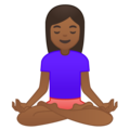 Woman in Lotus Position: Medium-Dark Skin Tone on Google Android 8.1