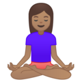 Woman in Lotus Position: Medium Skin Tone on Google Android 8.1