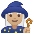 Woman Mage: Medium-Light Skin Tone on Google Android 8.1