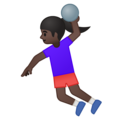 Woman Playing Handball: Dark Skin Tone on Google Android 8.1