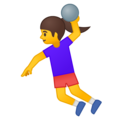 Woman Playing Handball on Google Android 8.1