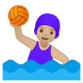 Woman Playing Water Polo: Medium-Light Skin Tone on Google Android 8.1