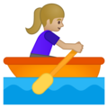 Woman Rowing Boat: Medium-Light Skin Tone on Google Android 8.1