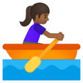 Woman Rowing Boat: Medium-Dark Skin Tone on Google Android 8.1