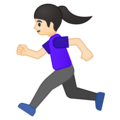 Woman Running: Light Skin Tone on Google Android 8.1