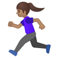 Woman Running: Medium Skin Tone on Google Android 8.1