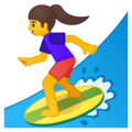 Woman Surfing on Google Android 8.1