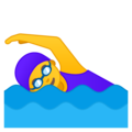 Woman Swimming on Google Android 8.1