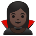 Woman Vampire: Dark Skin Tone on Google Android 8.1