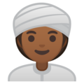 Woman Wearing Turban: Medium-Dark Skin Tone on Google Android 8.1