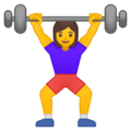 Woman Lifting Weights on Google Android 8.1