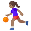 Woman Bouncing Ball: Medium Skin Tone on Google Android 8.1
