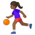 Woman Bouncing Ball: Medium-Dark Skin Tone on Google Android 8.1