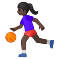 Woman Bouncing Ball: Dark Skin Tone on Google Android 8.1