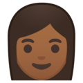 Woman: Medium-Dark Skin Tone on Google Android 8.1